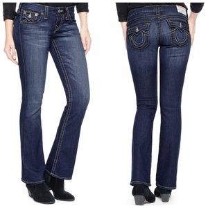Becky Petite Bootcut Low Rise Jeans